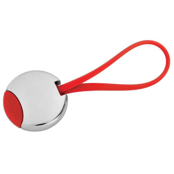 """Брелок """"Beat""""; красный, 3,5x3,5x0,6 см; металл"""