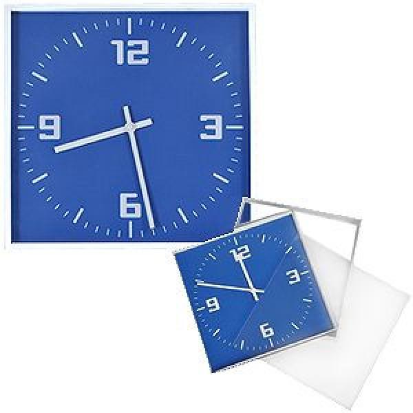 """Часы настенные """"КВАДРАТ""""; синий, 30*30 см; пластик;"""